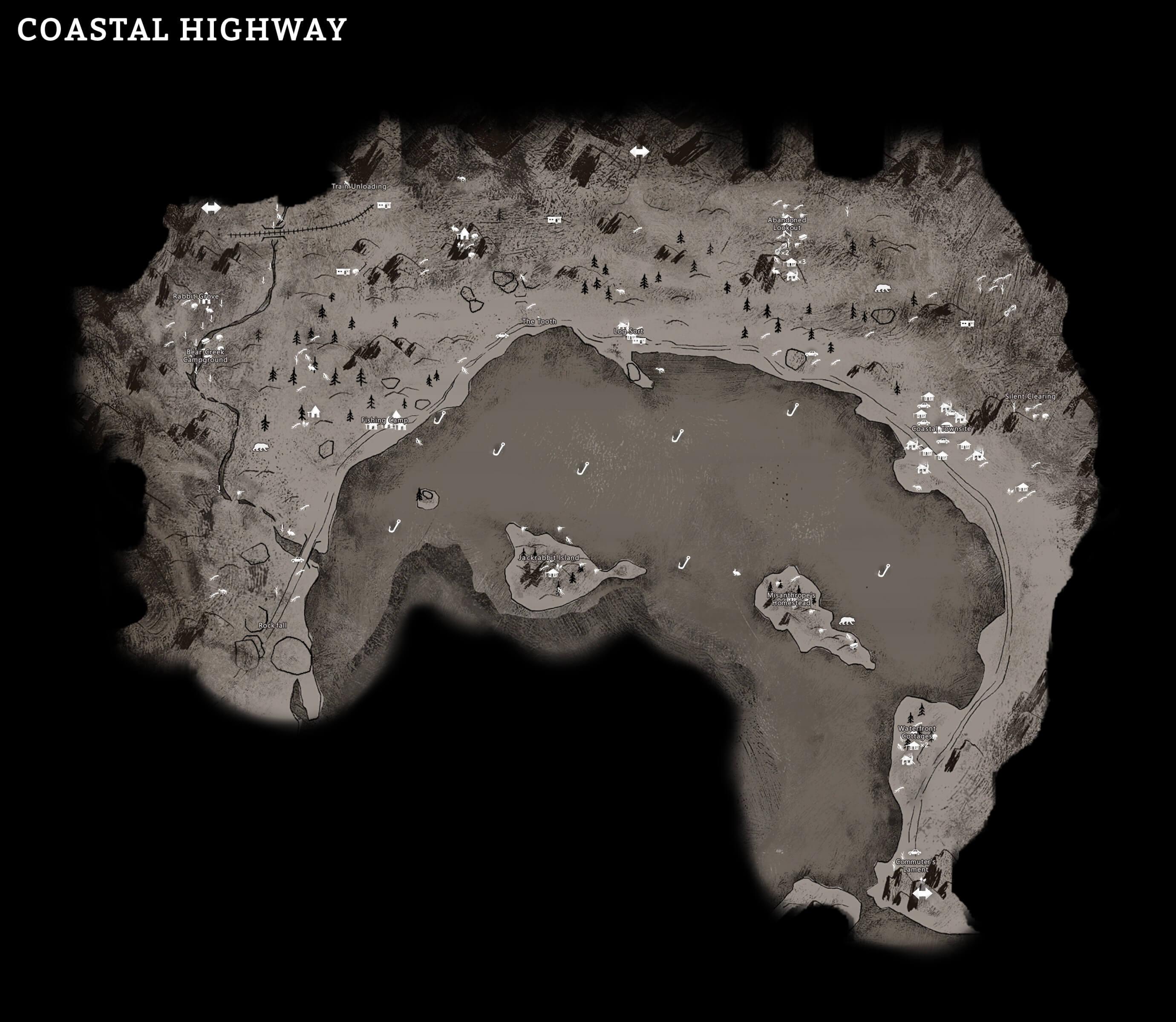 The Long Dark - Maps - Naguide