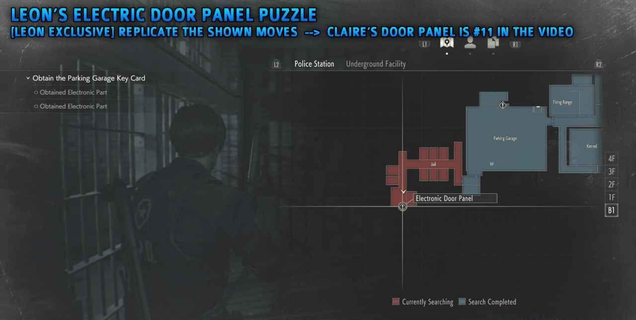 Resident Evil 2 Electronic Door Panel Puzzle Leon Claire Naguide