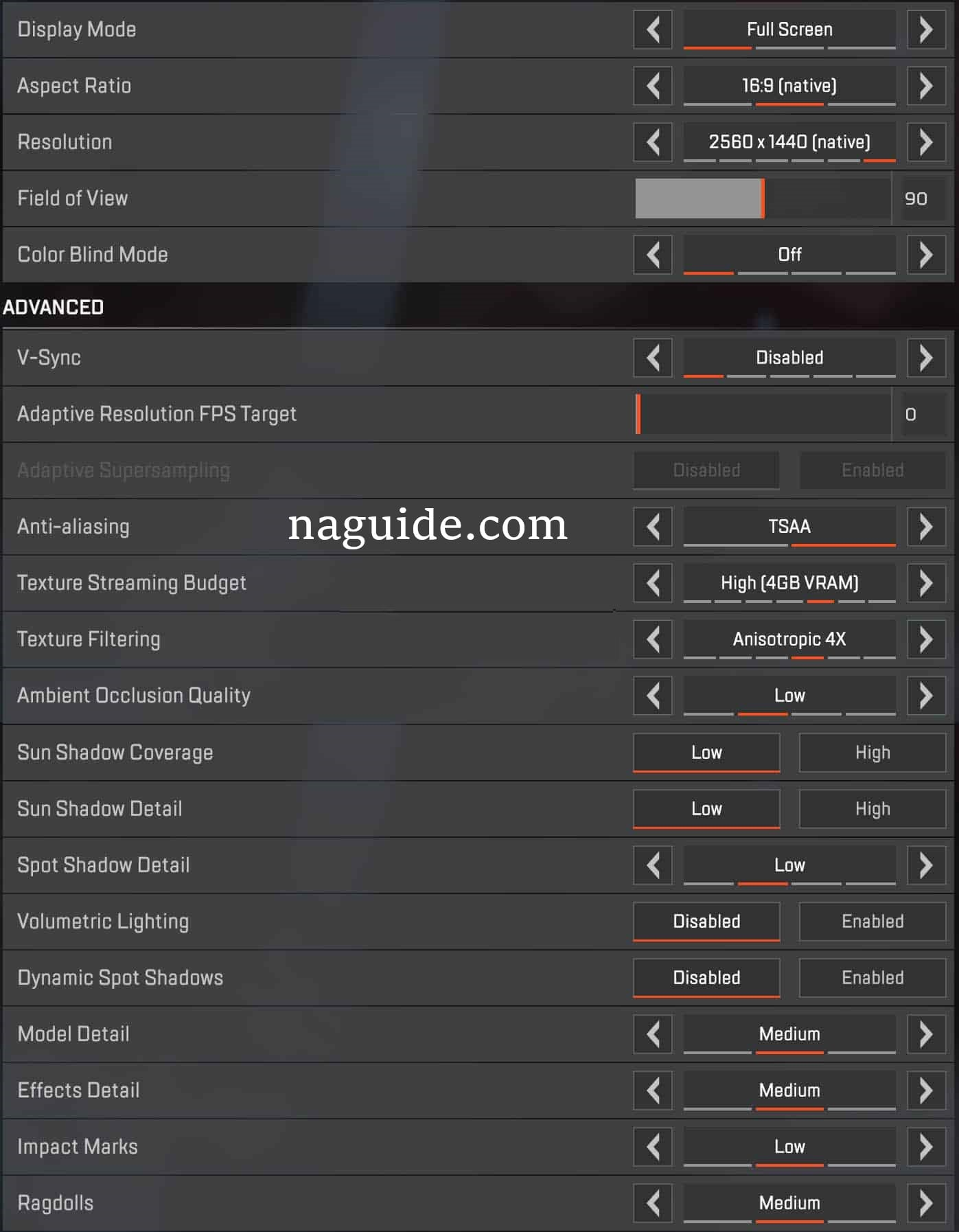 Apex Legends Best Settings FPS and Sight - Naguide