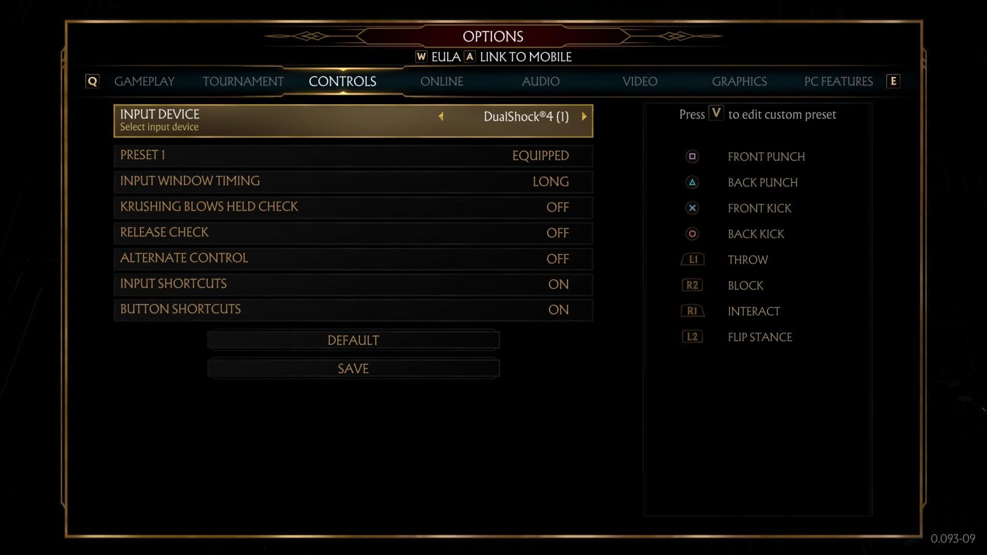 Mortal Kombat 11 - PS4 Controller Button Layout - Naguide