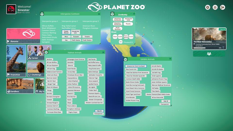 Planet Zoo - ZooBuddy Overlay - Naguide