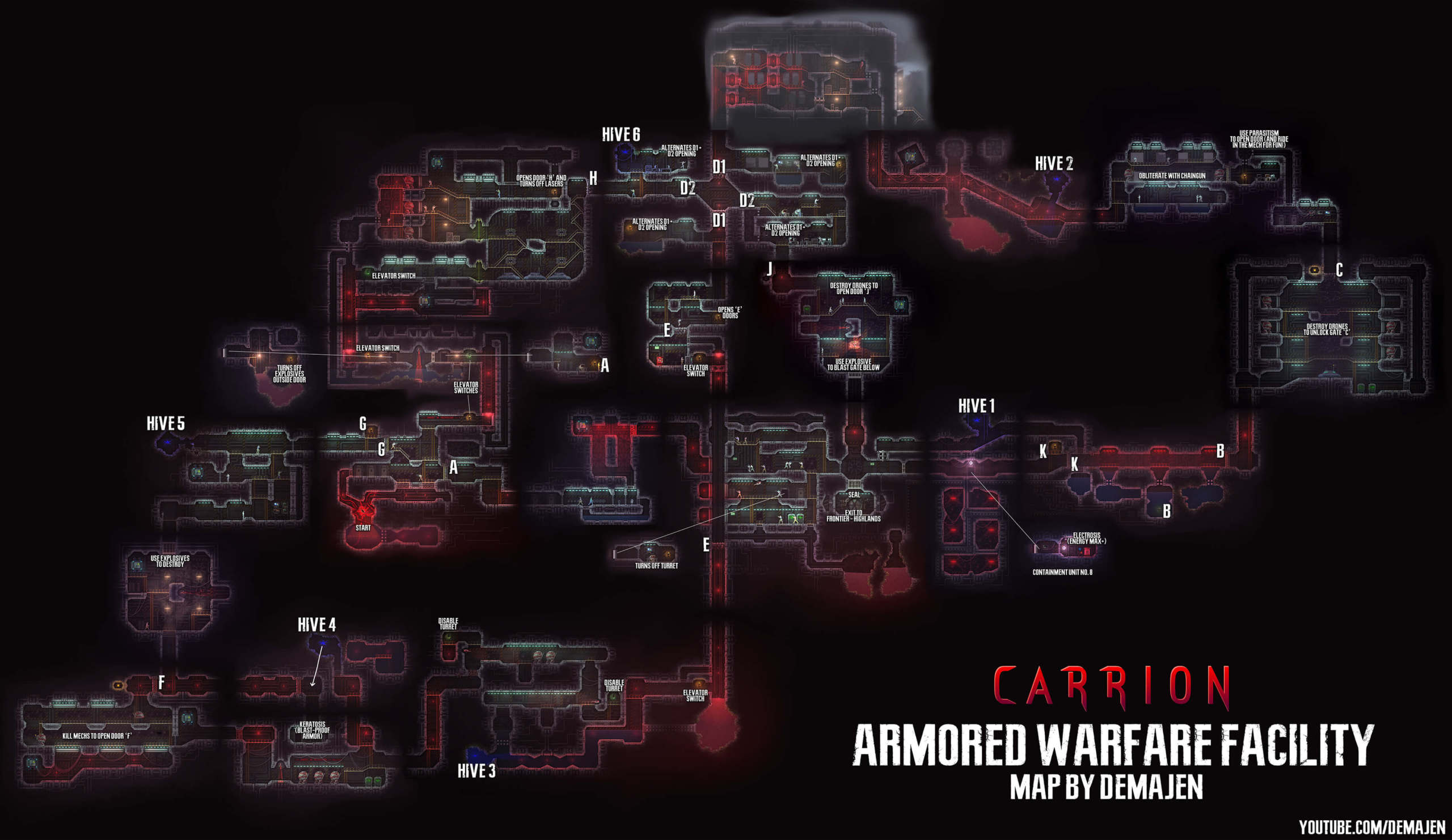 Carrion Maps Of All Areas Naguide